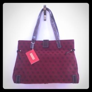 Dooney & Bourke Red Logo Medium Tote